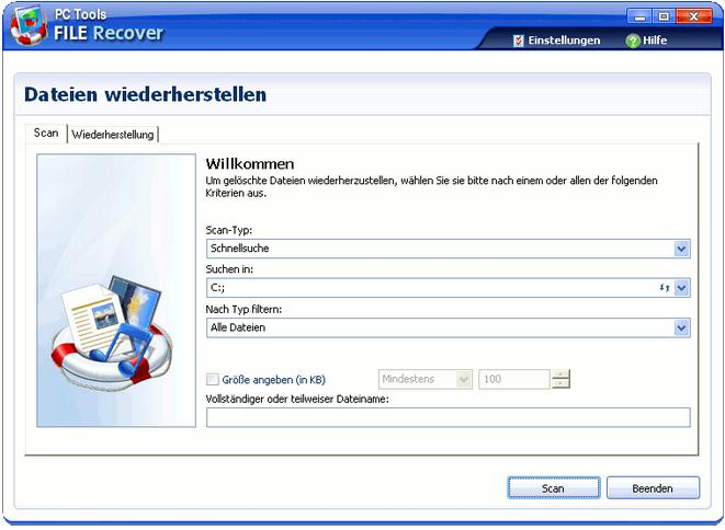 Dateien wiederherstellen