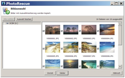 Mit PhotoRescue Bilder und Fotos wiederherstellen.