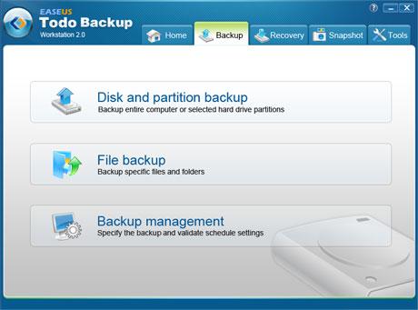 Server Sichern mit Todo Backup mit oder ohne Windows