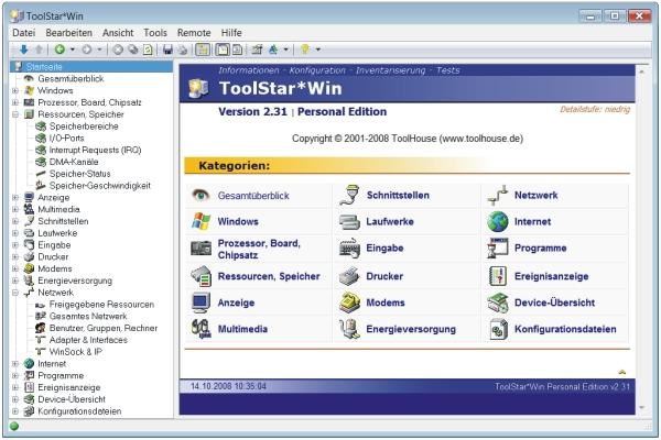 ToolStar*Win Hardwareanalyse Check