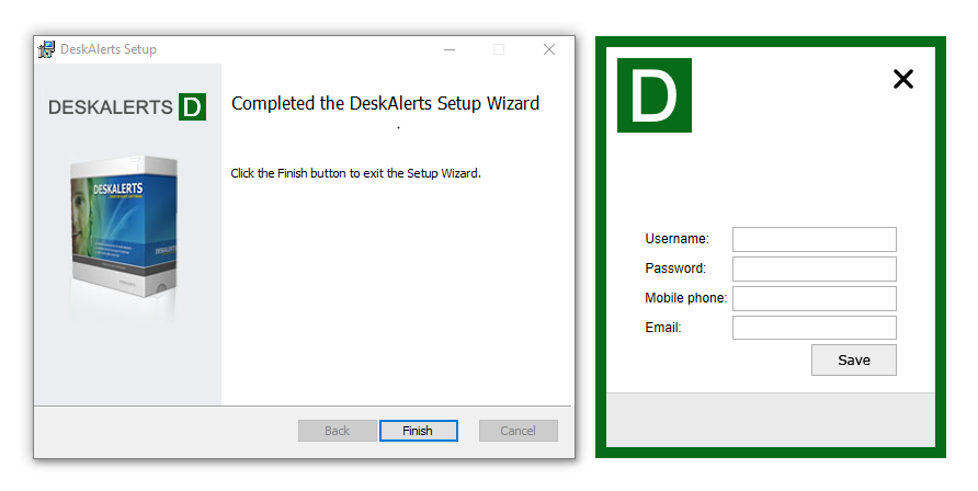 Deskalerts Client Software
