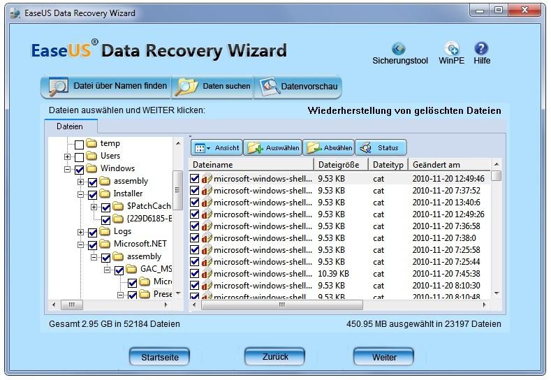 gelöschte Daten retten