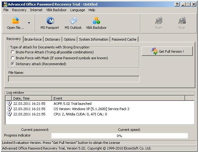 Office Passwort vergessen