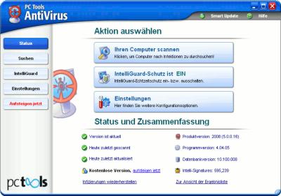 Antivirus software von pc tools