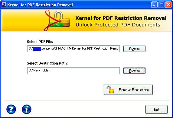 PDF Beschränkungen aufheben