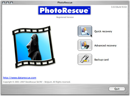 recover deleted images with PhotoRescue Mac