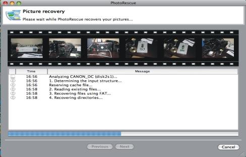 Auf dem Macintosh mit PhotoRescue gelöschte Fotos retten und wieder herstellen.