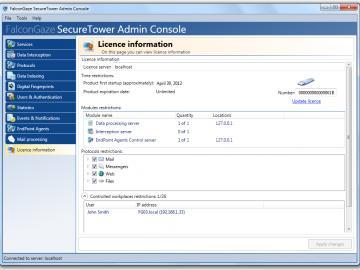 SecureTower Lizenz Verwaltung