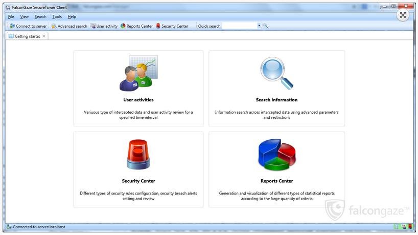 Falcongaze SecureTower Security Admin Console