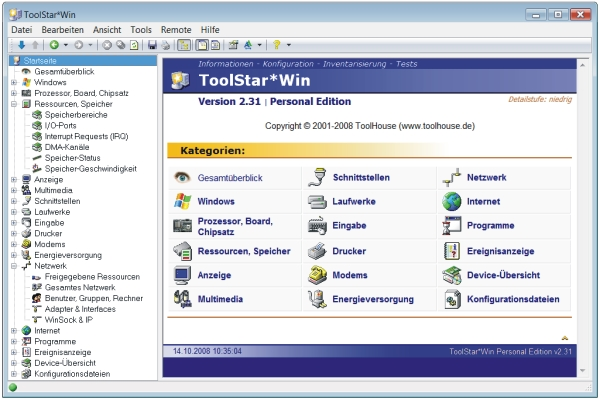 ToolStar*Win Hardwareanalyse Check